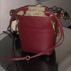 Burgundy Roy mini Chloe bag